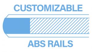 Customizable ABS Rails